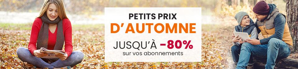 L'offre d'automne sur Viapresse.com