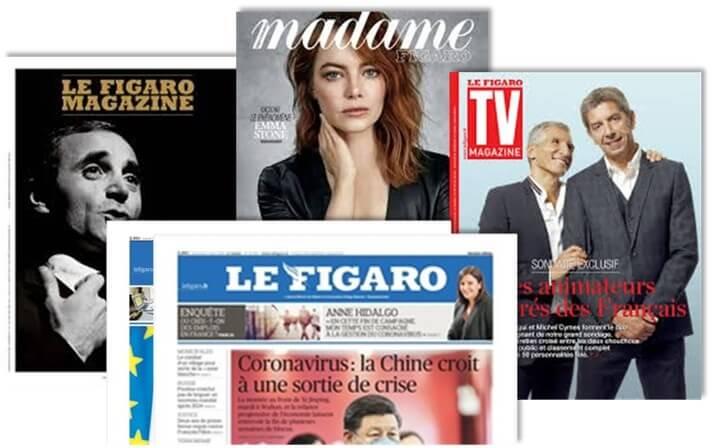 Figaro Magazine, Madame, TV + Littéraire, Santé et Figaroscope